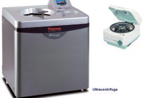 ultracentrifuga y centrifuga de laboratorio